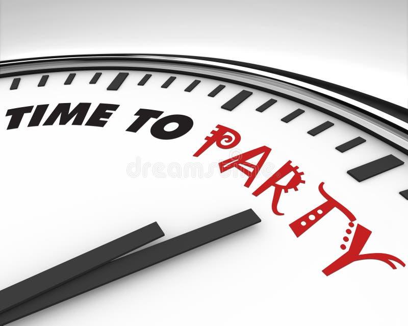 Hora de party - el reloj stock de ilustración