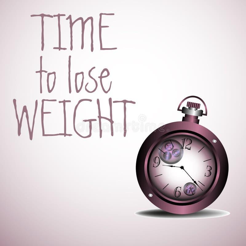 Hora de perder o peso ilustração stock