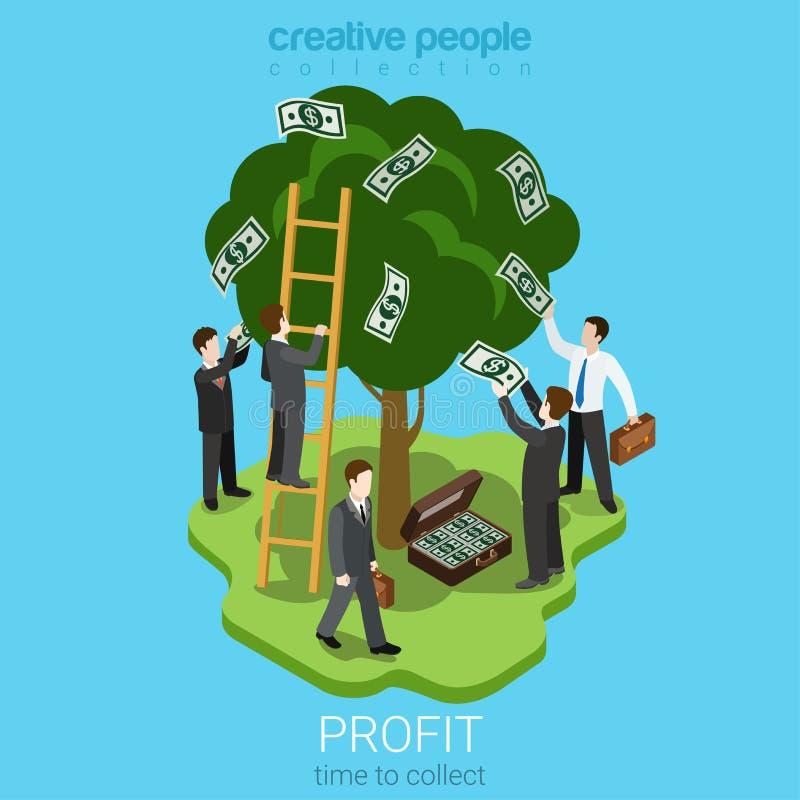 Hora de recoger concepto del beneficio libre illustration