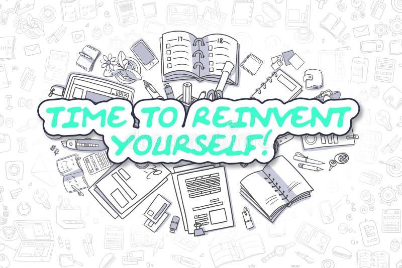 Hora de reinventarse - concepto del negocio libre illustration