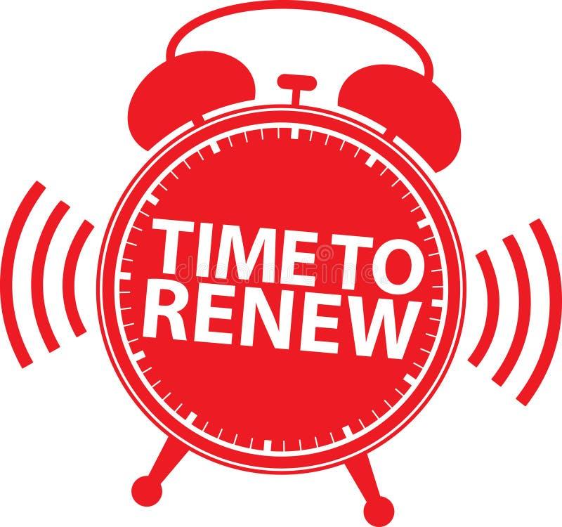 Hora de renovar o ícone do despertador, vetor ilustração royalty free