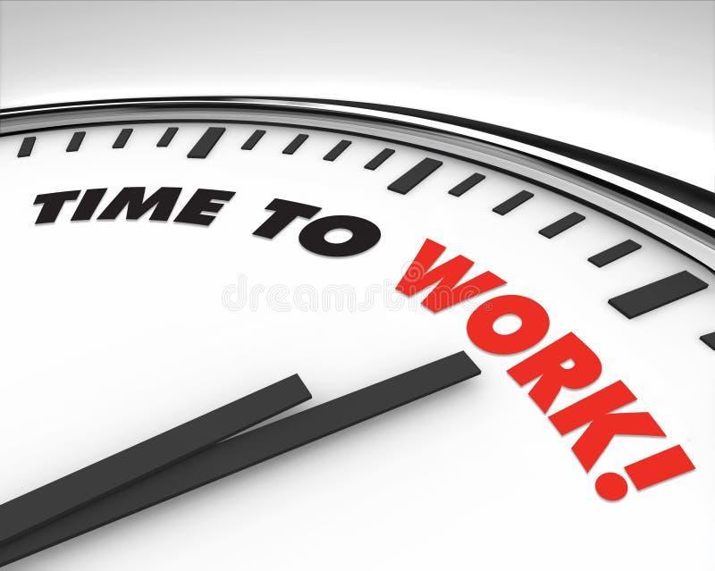 Hora de trabajar - el reloj ilustración del vector