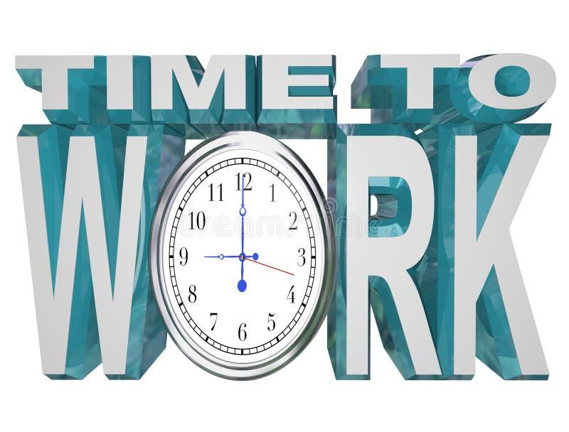 Hora de trabalhar a contagem regressiva do pulso de disparo ao fim do prazo de trabalho ilustração royalty free