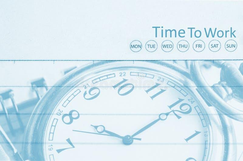 Hora de trabalhar, para cronometrar o conceito do negócio fotografia de stock royalty free