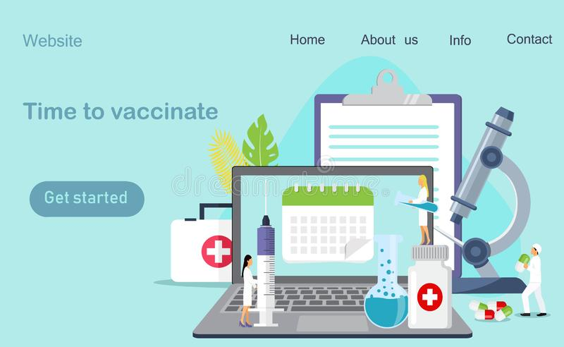 Hora de vacunar ilustración del vector