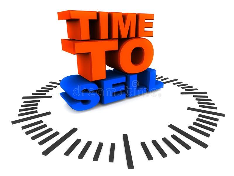 Hora de vender ilustração royalty free