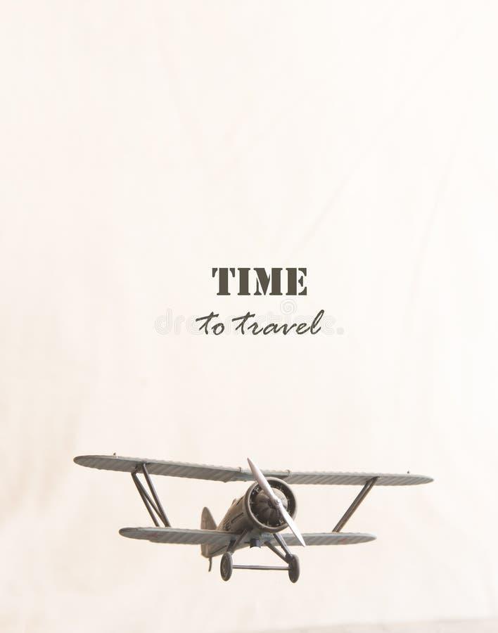 Hora de viajar inscrição e plano imagem de stock