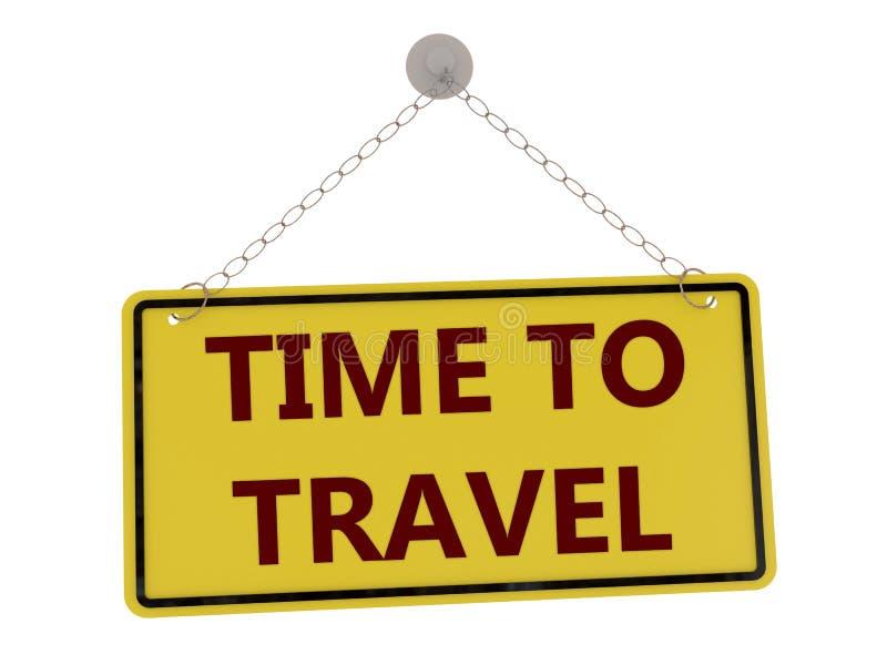 Hora de viajar sinal ilustração do vetor