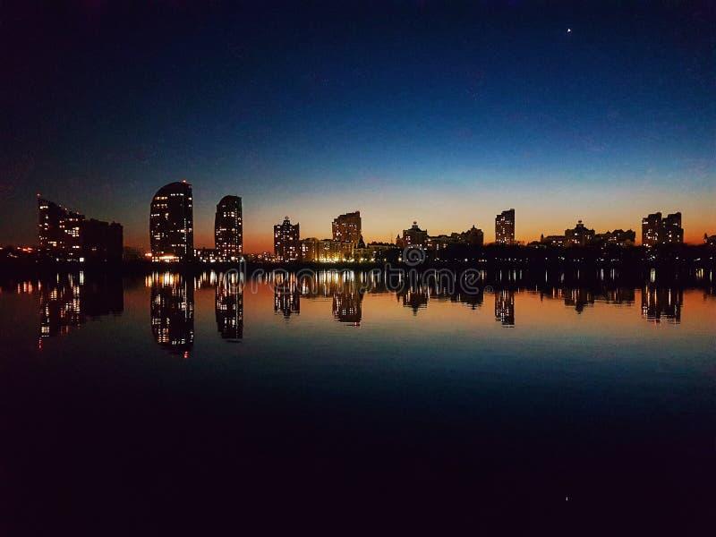 Hora del azul de Kiev imagen de archivo libre de regalías