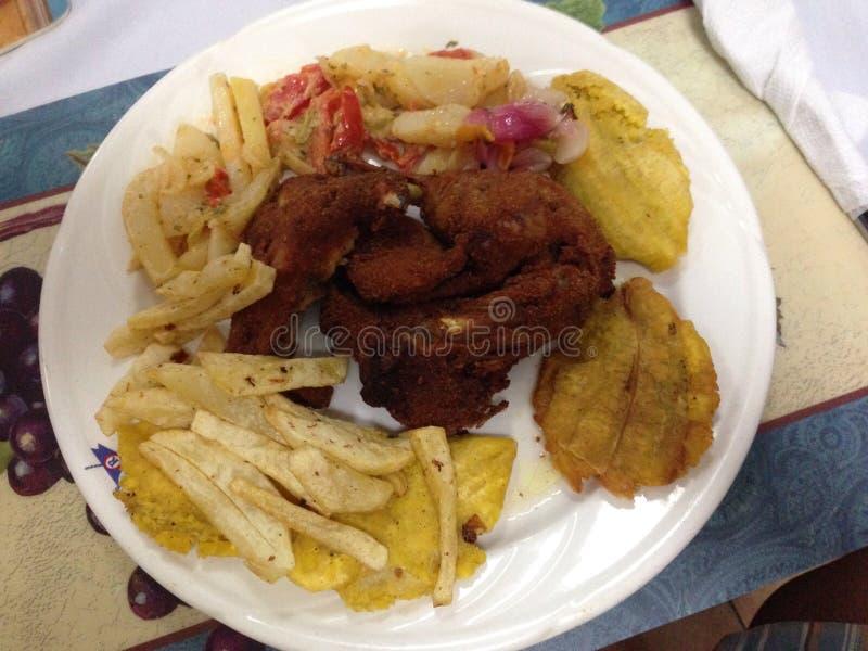 Hora do almoço em haiti imagens de stock