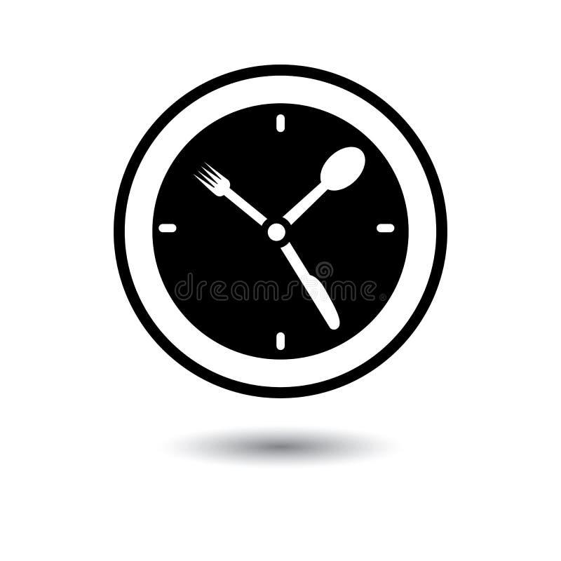 Hora do almoço, tempo do alimento, ilustração do conceito do tempo do comensal ilustração royalty free