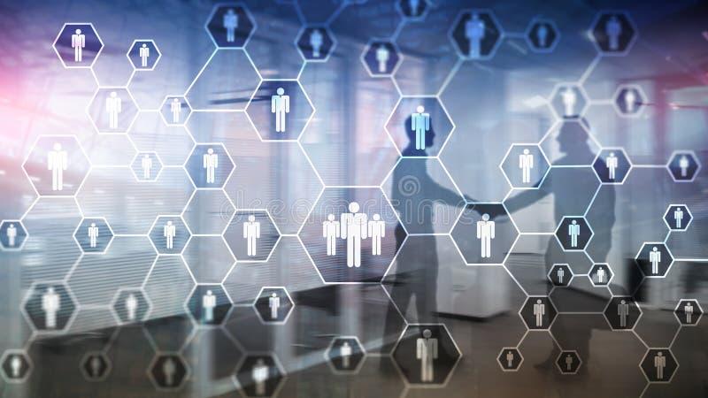 Hora, estructura de los recursos humanos, del reclutamiento, de organización y concepto social de la red stock de ilustración