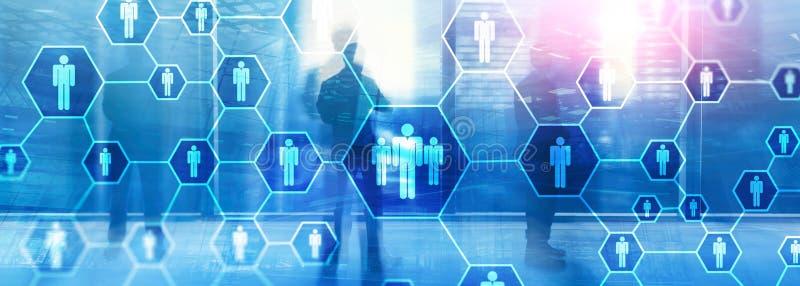 Hora, estructura de los recursos humanos, del reclutamiento, de organizaci?n y concepto social de la red fotografía de archivo libre de regalías