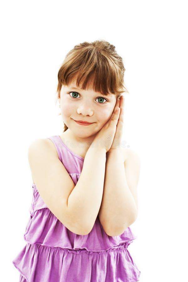 Hora feliz para a menina imagens de stock royalty free