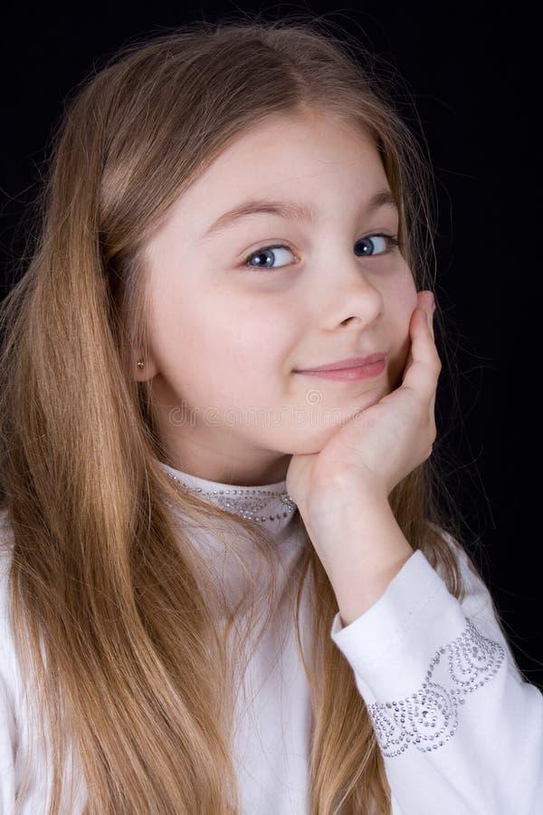 Hora feliz para a menina fotos de stock royalty free