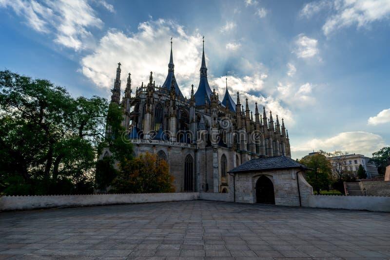 Hora Kutna взгляд городка республики cesky чехословакского krumlov средневековый старый стоковые изображения