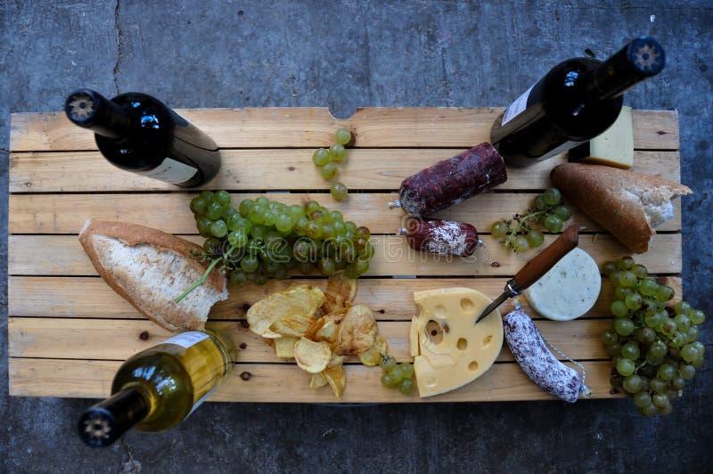 Hora para alguns grandes alimento e vinho, Cafayate, Argentina foto de stock royalty free