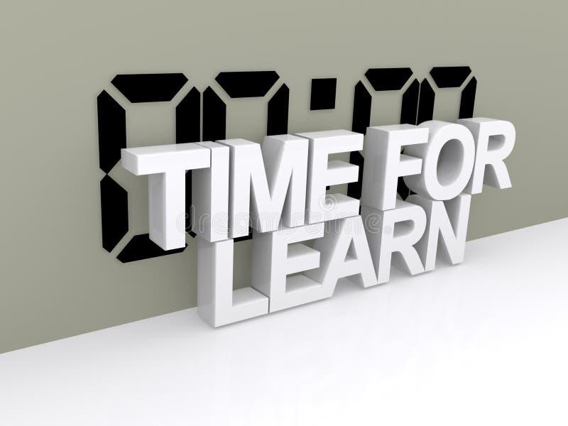 A hora para aprende o sinal ilustração do vetor