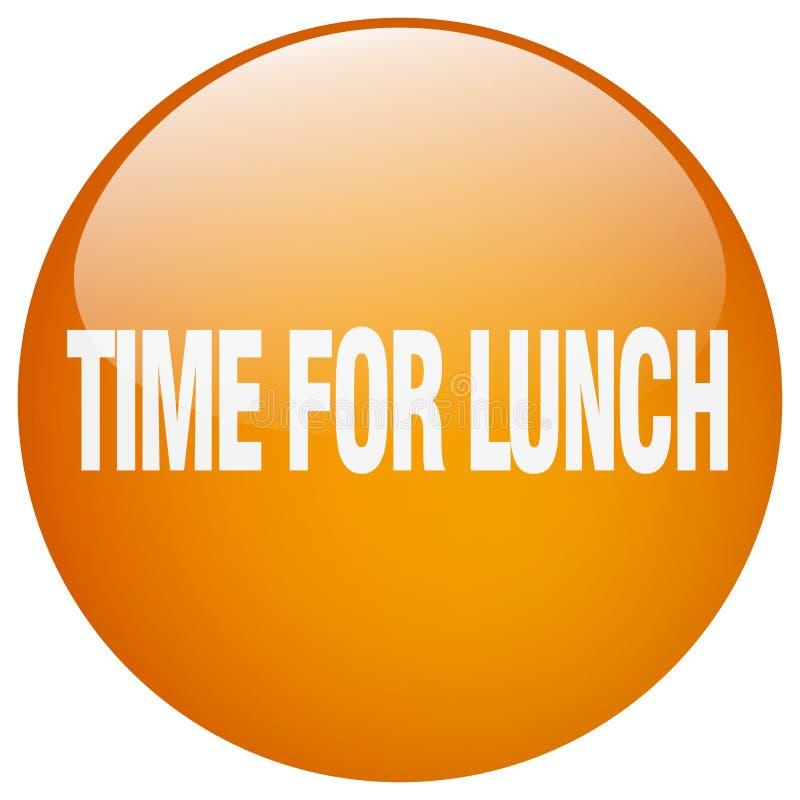 hora para el botón del almuerzo stock de ilustración