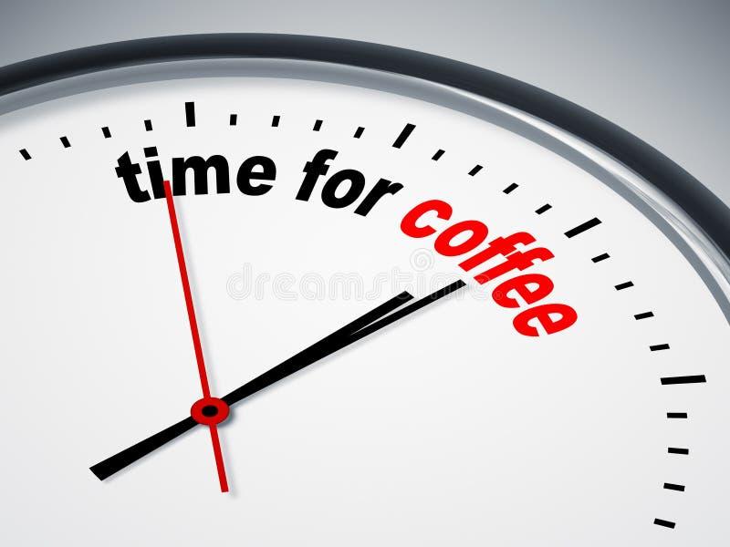 Hora para el café stock de ilustración