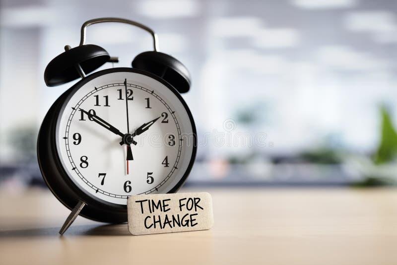 Hora para el cambio imagenes de archivo