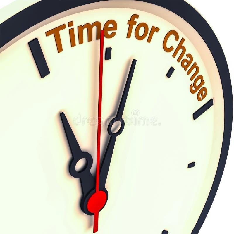 Hora para el cambio libre illustration