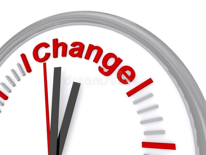 Hora para el cambio stock de ilustración