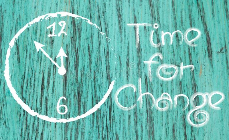 Hora para el reloj blanco-pintado cambio inspirado foto de archivo libre de regalías