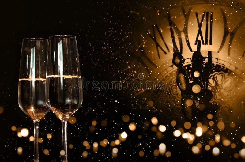 Hora para felicitações do ano novo imagem de stock