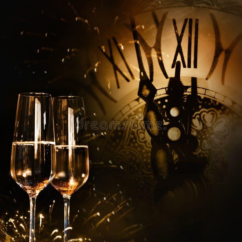 Hora para felicitações do ano novo foto de stock