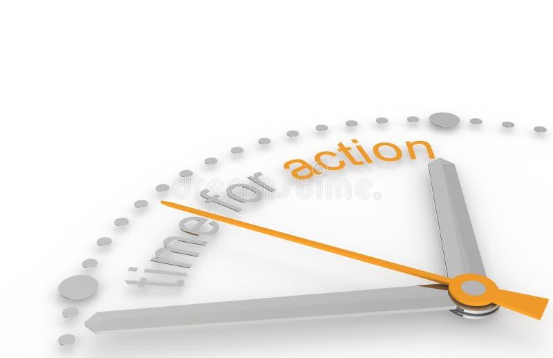 Hora para la acción. ilustración del vector