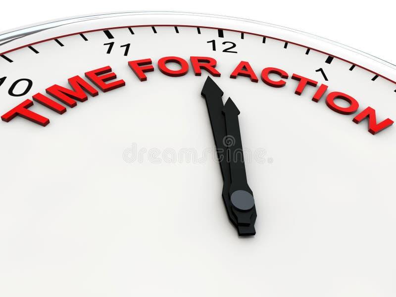 Hora para la acción ilustración del vector