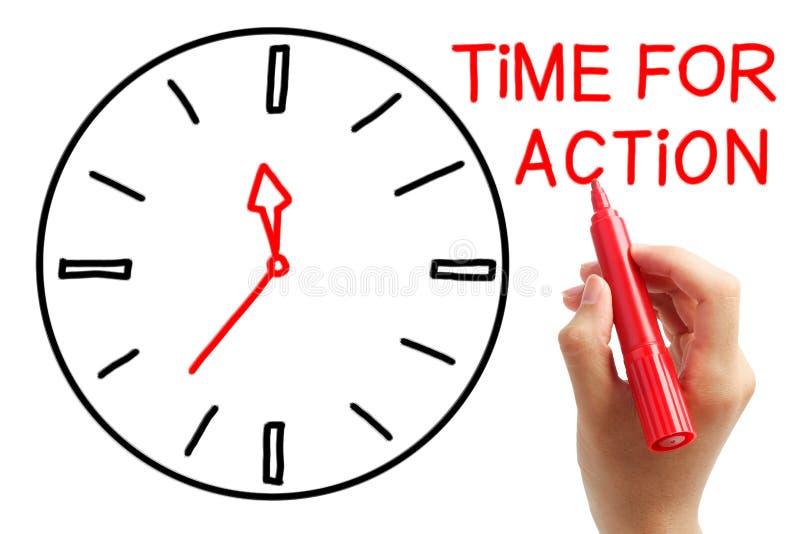Hora para la acción fotografía de archivo libre de regalías