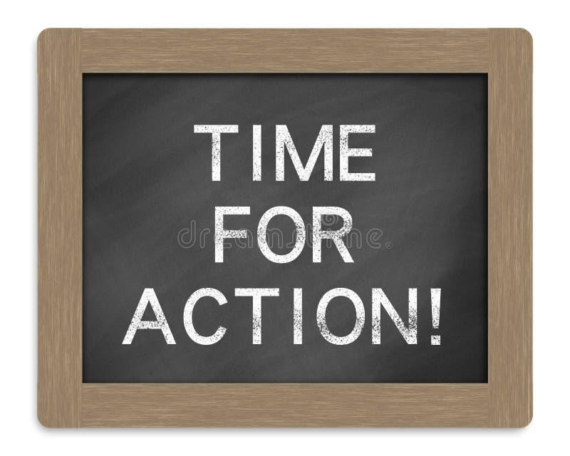 Hora para la acción imagen de archivo libre de regalías