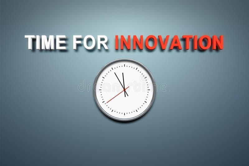 Hora para la innovación en la pared ilustración del vector