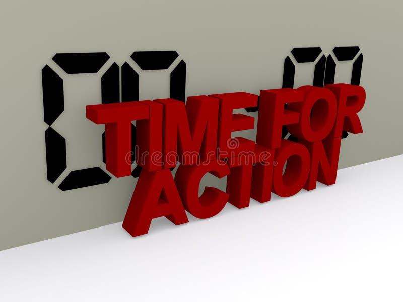 Hora para la muestra de la acción stock de ilustración