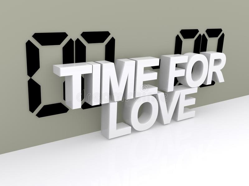 Hora para la muestra del amor stock de ilustración