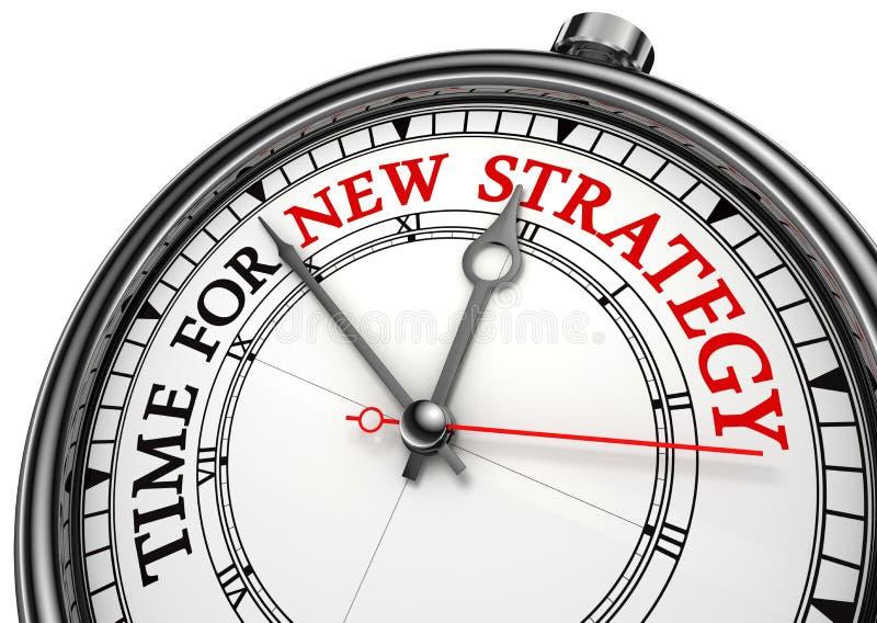 Hora para la nueva estrategia en el reloj ilustración del vector