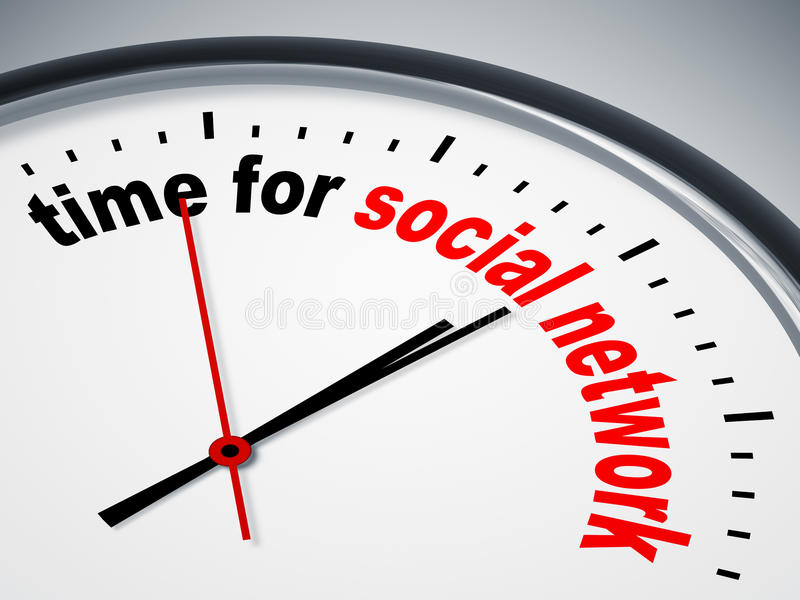 Hora para la red social libre illustration
