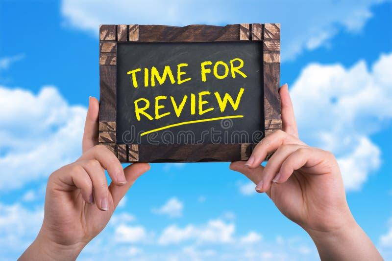 Hora para la revisión imagen de archivo libre de regalías