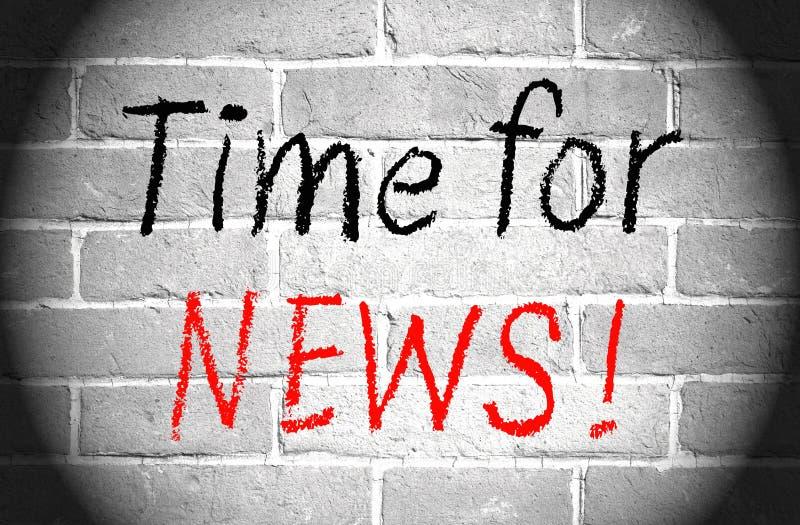 Hora para las noticias imagen de archivo libre de regalías