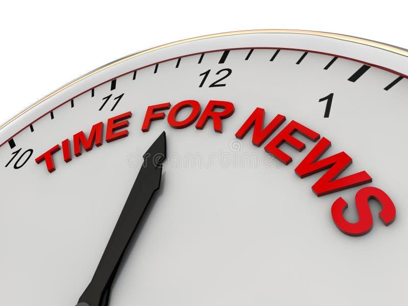 Hora para las noticias ilustración del vector