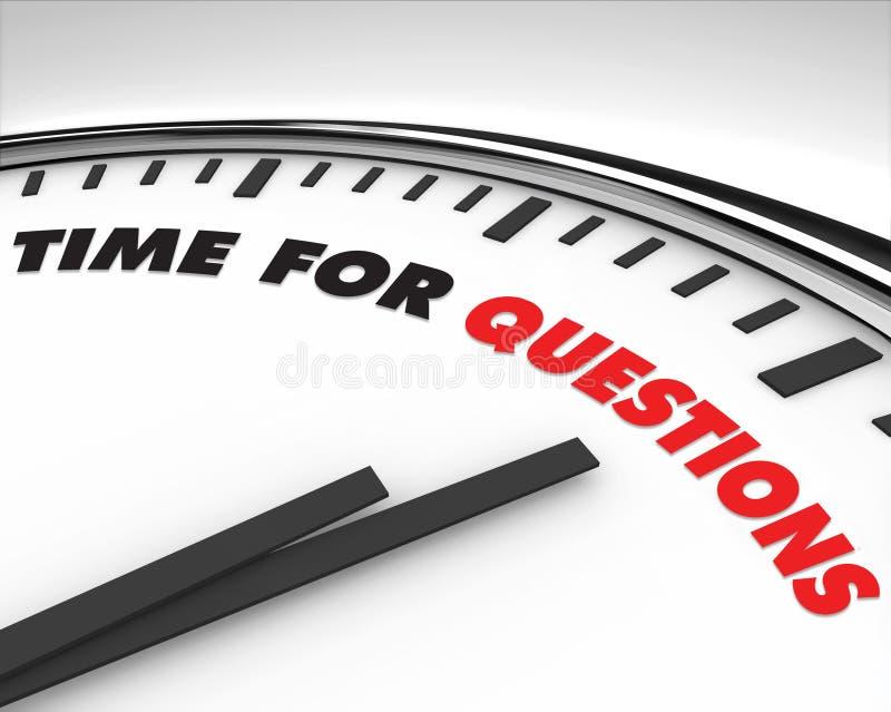 Hora para las preguntas - reloj stock de ilustración