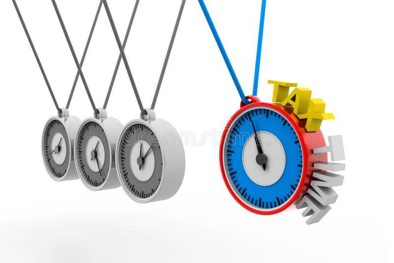 Hora para los impuestos stock de ilustración