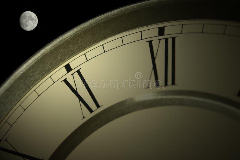 Hora para a Lua cheia fotografia de stock royalty free