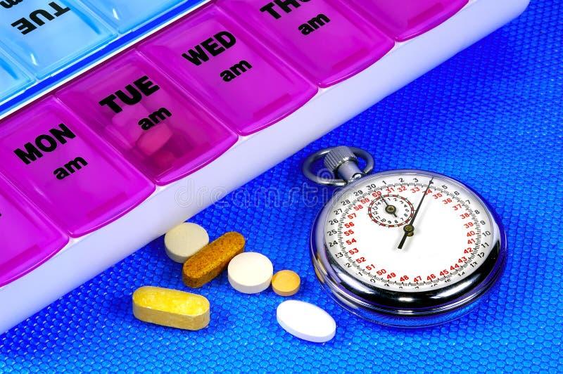 Hora para a medicamentação foto de stock