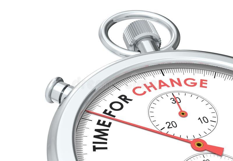 Hora para a mudança. ilustração do vetor