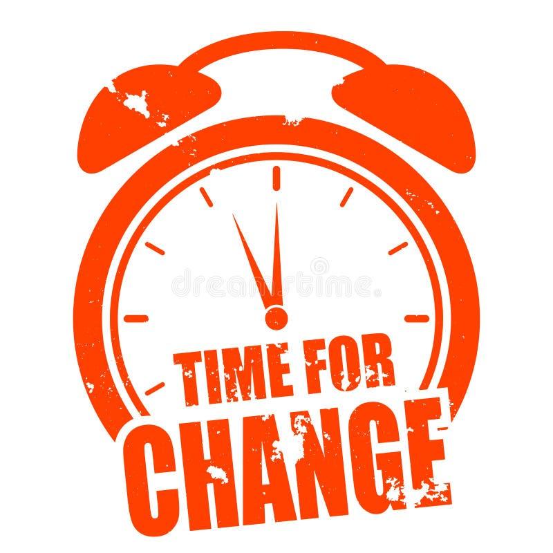 Hora para a mudança ilustração do vetor