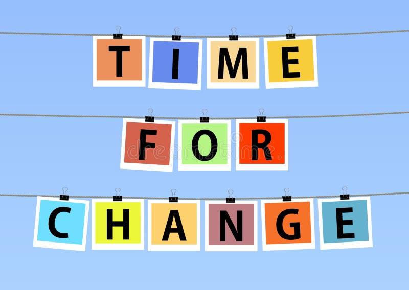 Hora para a mudança ilustração royalty free