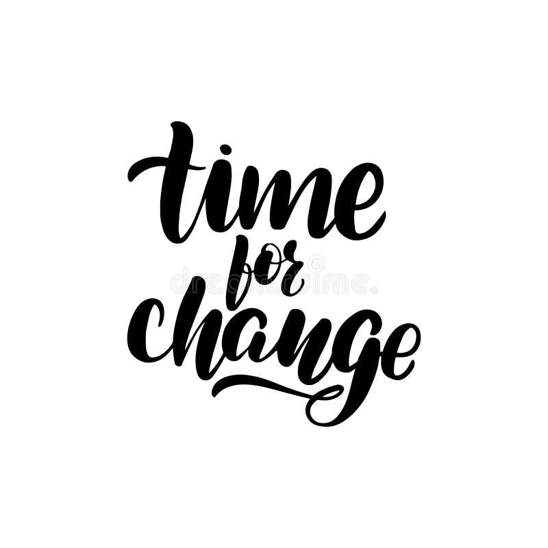 Hora para a mudan?a ilustração stock